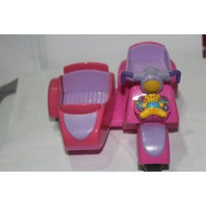 "Fisher Price Motorcycle Side Car Pink 7"" Long"